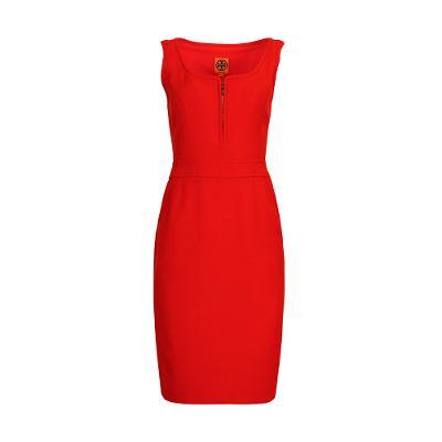body con sleeveless midi dress scarlet